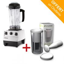 Vitamix - Pack mixeur Blender Vitamix 5200 Blanc + kit lait Chufamix