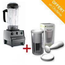 Vitamix - Pack mixeur Blender Vitamix 5200 Noir + kit lait Chufamix
