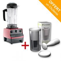 Vitamix - Pack mixeur Blender Vitamix 5200 Rouge + kit lait Chufamix