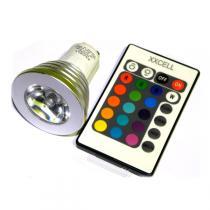 Xxcell - Bombilla LED 3W 16 colores GU10