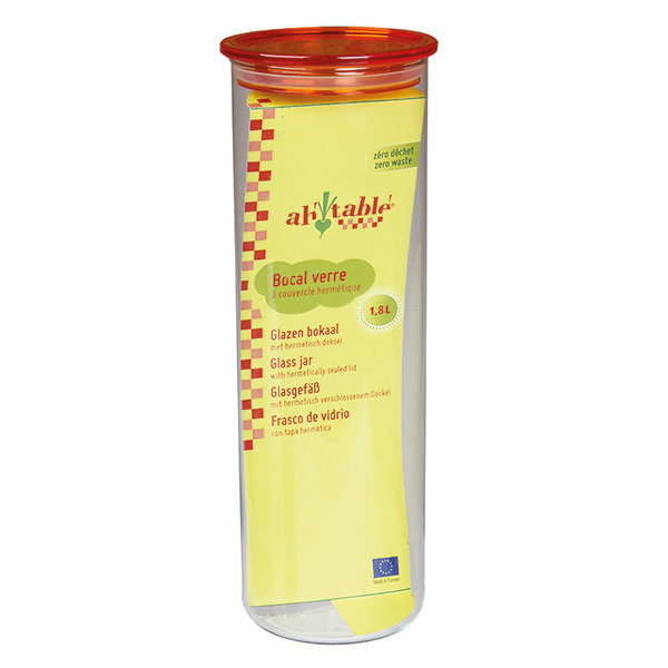 Ah! Table! - Bocal en verre cylindrique 1,8L