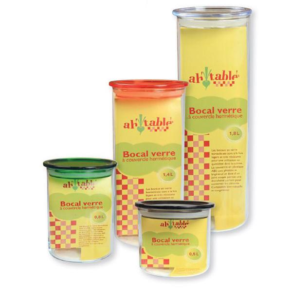 SIXAQUAE Lot de 2 Bocaux Conservation 600ml en Verre Borosilicate avec Couvercle en Acier Inoxydable et Rondelle en Silicone pour Le Stockage des Aliments