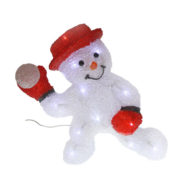 Bonhomme de neige boule de neige 3d blach re illumination - Video illumination de noel exterieur ...
