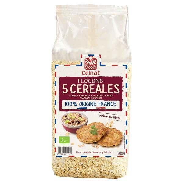 Celnat - Flocons 5 céréales bio - 500g