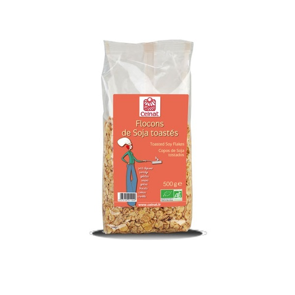 Celnat - Flocons de soja toastés - 500g