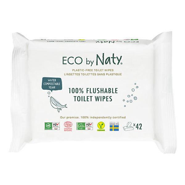 Eco by Naty - 42 Lingettes de toilettes éco - Sans parfum
