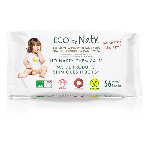 Eco by Naty - 56 lingettes douces éco aloe vera