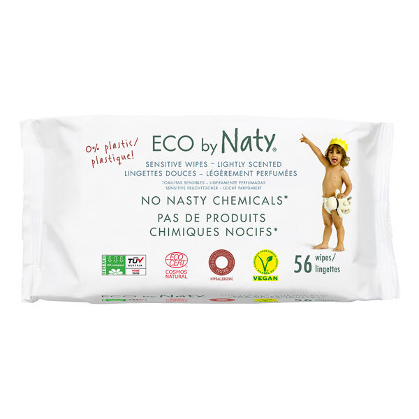 Eco by Naty - 56 lingettes douces éco légèrement parfumées