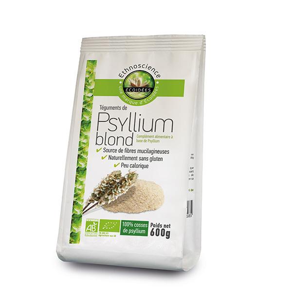 Ecoidées - Psyllium blond en poudre 600g