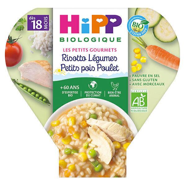 HiPP - 1 assiette risotto légumes petits pois poulet dès 18 mois 260g