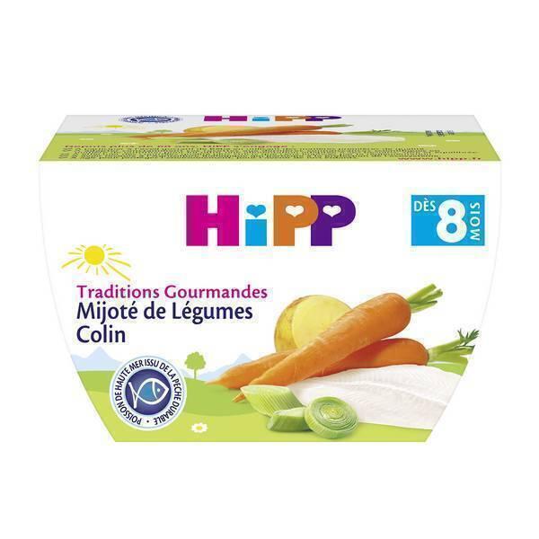 Hipp - Mijoté de Légumes Colin dès 8 mois 190g