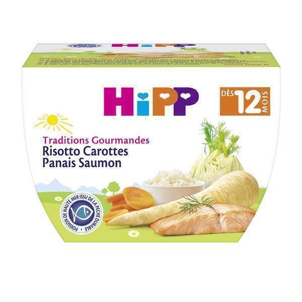 Hipp - Risotto Carottes Panais Saumon dès 12 mois 220 g