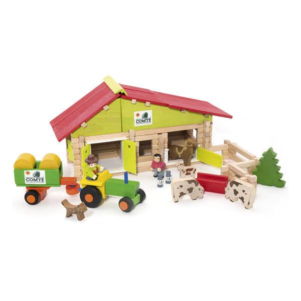 Jeujura - Farm mit Traktor und Tieren - 140 Teile