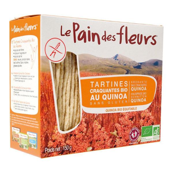 Le pain des fleurs - Lot de 6 paquets de tartine craquante au Quinoa 150g