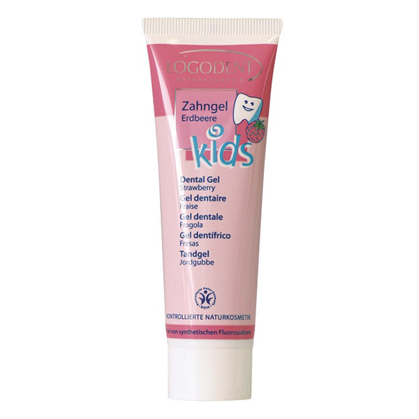 Logona - Lot de 3 Dentifrices Enfant à la Fraise 50mL