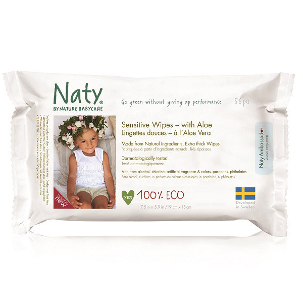 Nature Babycare - 56 toallitas suaves Eco Aloe vera