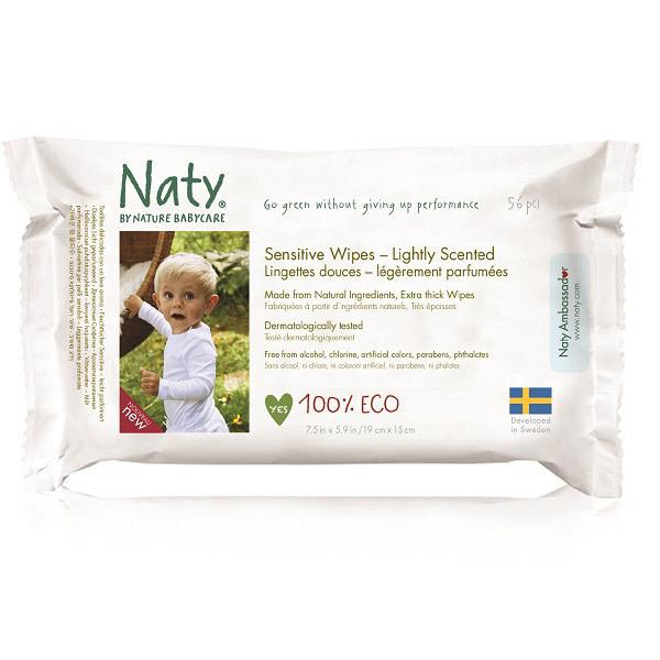 Nature Babycare - 56 Toallitas suaves Eco ligéramente perfumadas