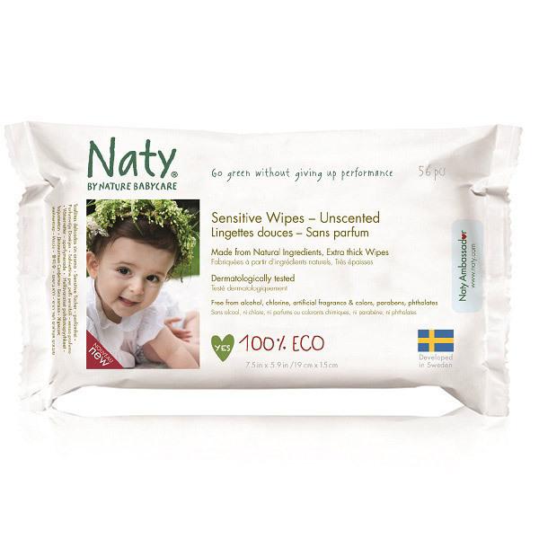 Nature Babycare - 56 Toallitas suaves Eco - Sin perfume