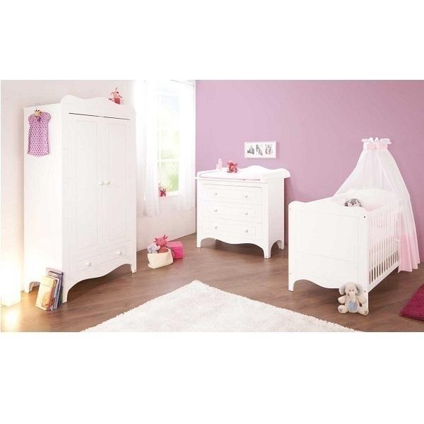 Chambre bébé 3 pièces Fleur - Blanc Pinolino | Natiloo.com | La ...