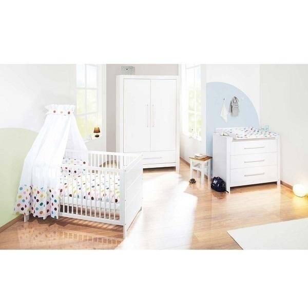 chambre b b 3 pi ces puro blanc pinolino la r f rence bien tre bio b b. Black Bedroom Furniture Sets. Home Design Ideas