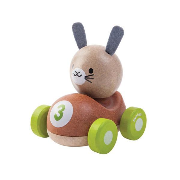 Plan Toys - Bunny le lapin de course en bois - Dès 12 mois