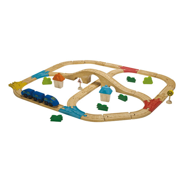 PlanToys - 49 pcs Railway Set