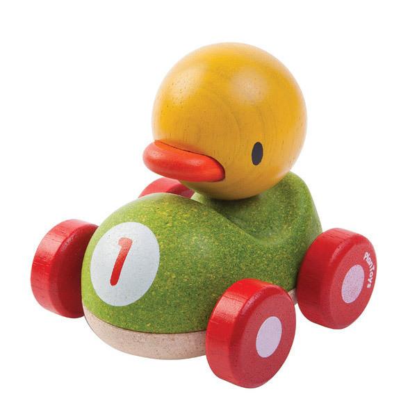 Plan Toys - Ducky le caneton de course en bois - Dès 12 mois
