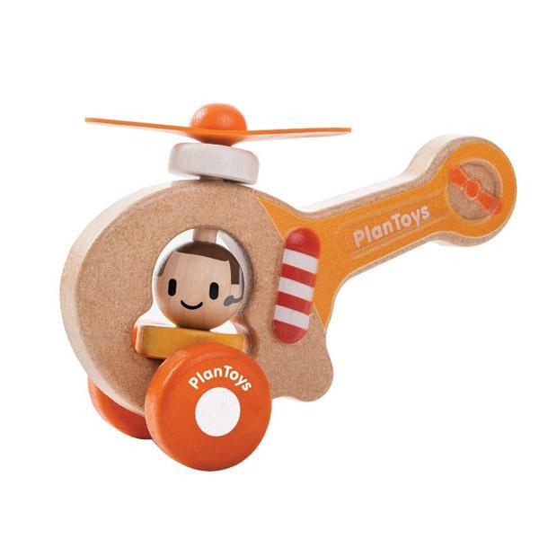 Plan Toys - Mon premier hélicoptère en bois - Dès 12 mois