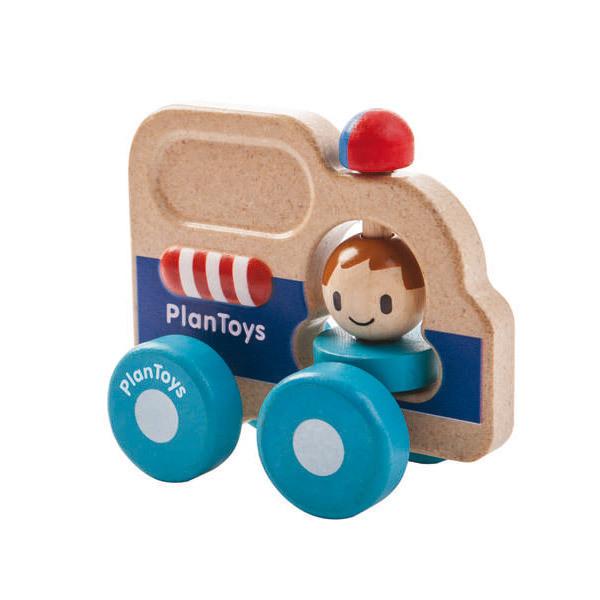 Plan Toys - Mon premier véhicule de secours en bois - Dès 12 mois
