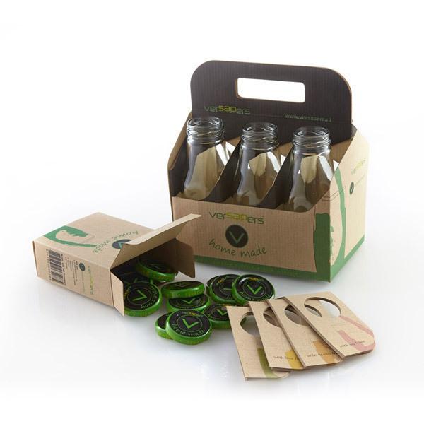 Versapers - Kit 6 bouteilles en verre pour Extracteur de jus