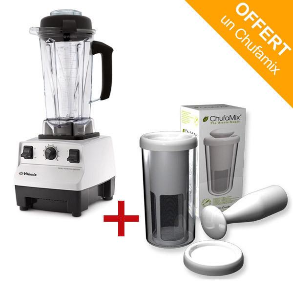 pack mixeur blender vitamix 5200 blanc kit lait chufamix acheter sur. Black Bedroom Furniture Sets. Home Design Ideas