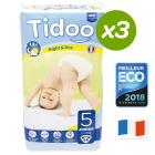 Tidoo - 3x46 Pañales Ecológicos JUNIOR T5 12-25kg