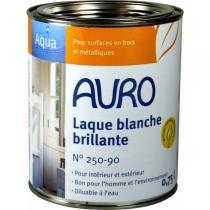 Auro - Laque couvrante brillante Aqua blanche 0,75L