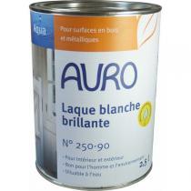 Auro - Laque couvrante brillante Aqua blanche 2,5L