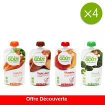 Good Gout - Offre Découverte Gourdes de Légumes - 4 x 120g