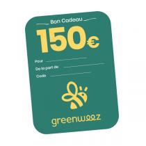 Greenweez.com - Chèque cadeau 150 Euros