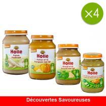 Holle - Offre Découvertes Savoureuses 4 mois - 4 x 190g