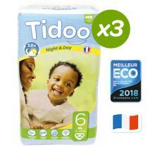 Tidoo - 3x38 Couches Ecologiques XL 16-30kg