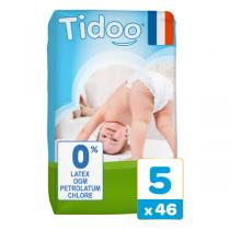 Tidoo - Pack 3x46 Couches T5 12-25kg Hypoallergéniques Nature