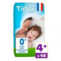 Tidoo - Pack 6x48 Couches T4+ 9-20kg Hypoallergéniques Nature