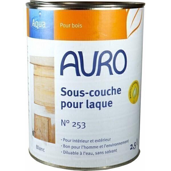 Sous couche pour laque aqua 2 5l auro acheter sur - Sous couche bois vernis ...
