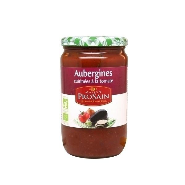 ProSain - Aubergines cuisinees a la tomate - 650g