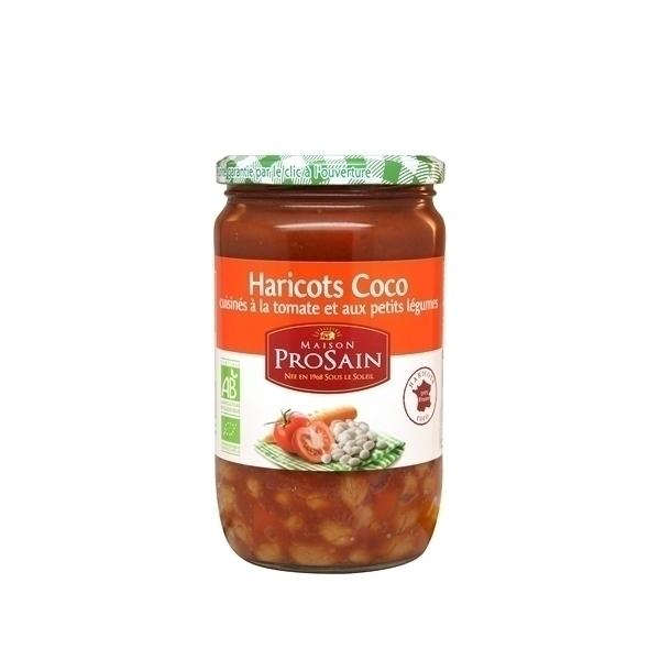 ProSain - Haricots coco cuisinés tomates petits légumes 660g