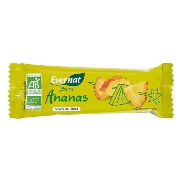 Evernat - Lot de 4 Barres Ananas - 4 x 40g