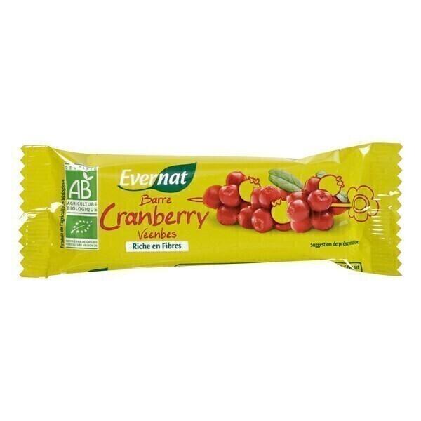 Evernat - Lot de 4 Barres Cranberry - 4 x 40g