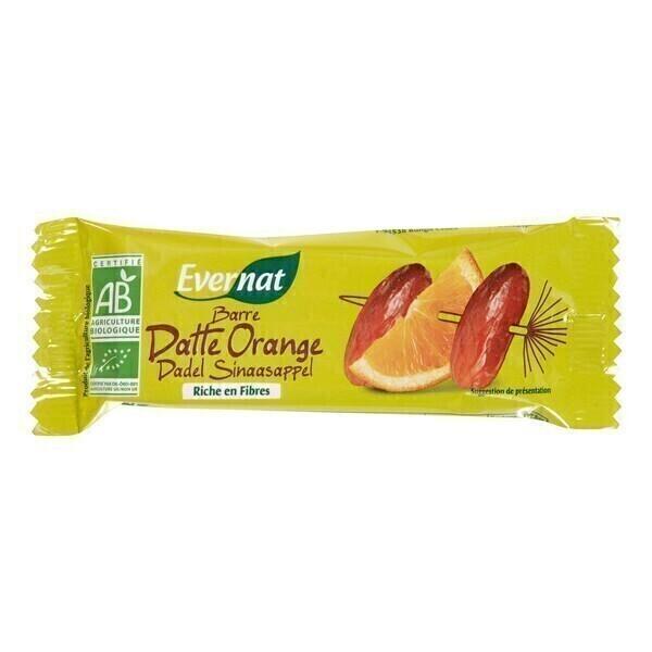 Evernat - Lot de 4 Barres Datte Orange - 4 x 40g
