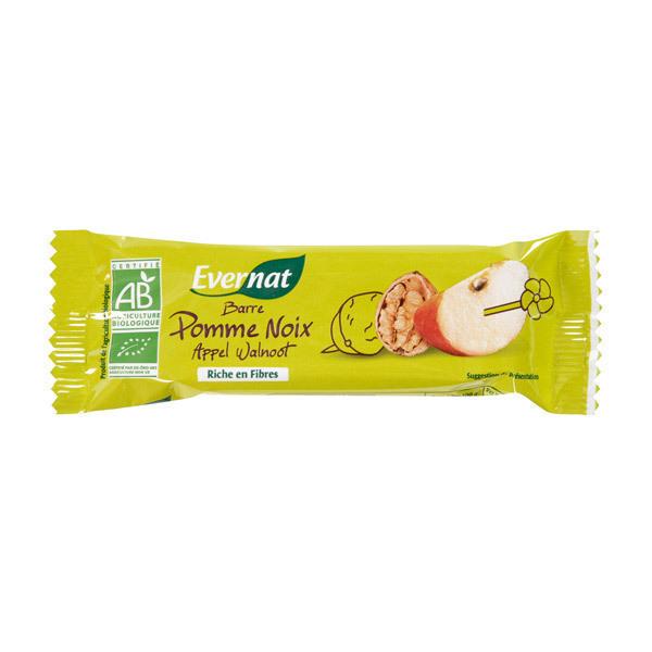 Evernat - Lot de 4 Barres Pomme noix - 4 x 40g