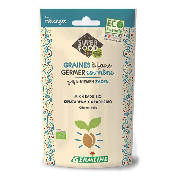 Germ'line - Graines à germer 4 radis Bio 100g