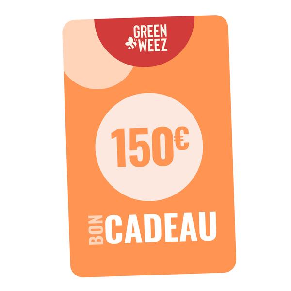 Greenweez Club - Chèque cadeau 150 Euros