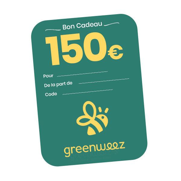 Greenweez.be - Chèque cadeau 150 Euros